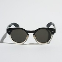 Black/Clear Circle Sunglasses