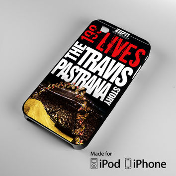 Travis Pastrana Motocross Racer Story A1199 iPhone 4S 5S 5C 6 6Plus, iPod 4 5, LG G2 G3, Sony Z2 Case