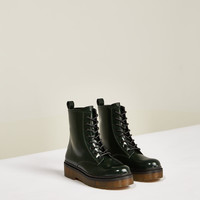 STUDIO LEATHER LACE - UP ANKLE BOOTS-Collection-ZARA WOMAN STUDIO 2-WOMAN | ZARA United Kingdom