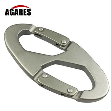 8-Shaped Carabiner KeyChain Hook Clip Camping Equipment EDC Gear Traveller Slide Lock Water Bottle Buckles Snap Y007-056