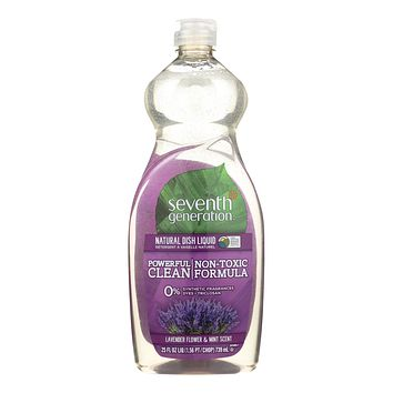 Seventh Generation Dish Liquid - Lavender Floral and Mint - 25 oz - Pack of 12
