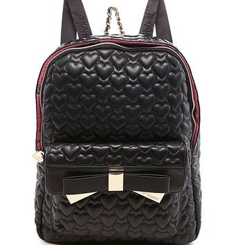 Betsey Johnson Be Mine 4Ever Quilted Backpack | Dillards
