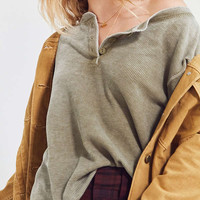 Truly Madly Deeply Thermal Henley Top | Urban Outfitters