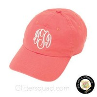 NEW Coral Preppy Baseball Cap