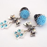 Glamsquared — Cute Crystal Butterfly Dangle Plugs