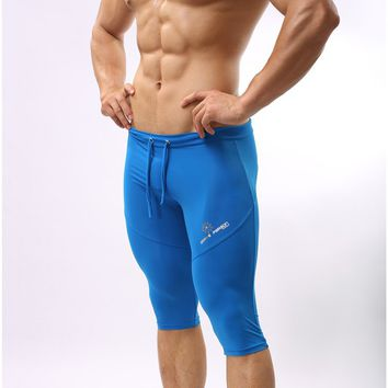 Mens Compression Gear Short Pants Tight Beach Sea Bermuda Boardshorts men outer wear