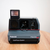 Vintage Grey Polaroid Impulse AF Instant Camera (Battery Tested)