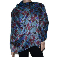 multi-color floral print Bamboo scarf