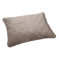 Tache Tan Beige Velvety Dreams Plush Diamond Tufted Pillow Sham (JHW-853B)