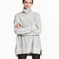 H&M Cable-knit Turtleneck Sweater $39.99