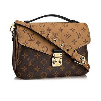 ICIK7BE Louis Vuitton Monogram Canvas Pochette Metis Cross Body Handbag Article:M41465