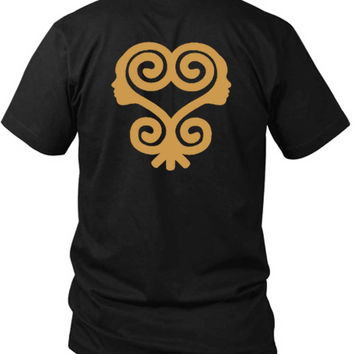 Sankofa T Shirt African Symbols Adinkra T Shirt 2 Sided Black Mens T Shirt
