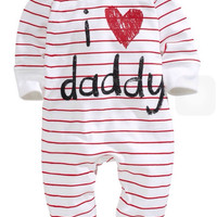 unisex baby rompers printed love mummy and daddy bebe roupas meninos