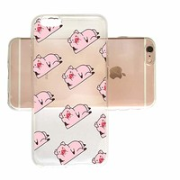 Cute Pig Pattern Slim iPhone 7/8 Case, Clear iPhone Hard Cover Case for Apple iPhone 7/8 Emerishop (iPhone 7/8)