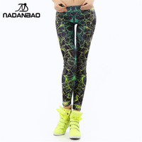 NADANBAO wholels Women 3D Printed color legins Ray fluorescence leggins