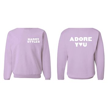 "Harry Styles ""HS / Adore You BACK"" Crew Neck Sweatshirt"