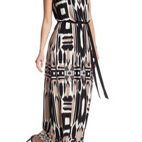 Maggy London | Printed Animal Blouson Maxi Dress | Nordstrom Rack