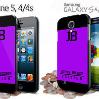 justin bieber singer edition iphone 4 /4S / 5 case samsung galaxy S3 / S4 case