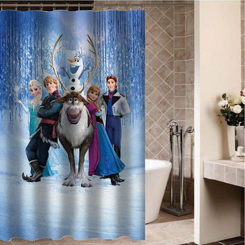 "disney frozen Custom Shower curtain,Sizes available size 36""w x 72""h 48""w x 72""h 60""w x 72""h 66""w x 72""h"