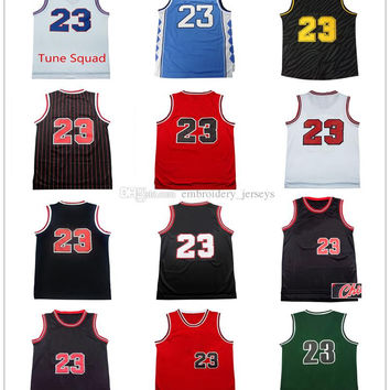 Men's 100% Stitched Top quality #23 Jerseys Classical Black/Red/White Basketball Jersey embroidered Logos Cheap sports shirts
