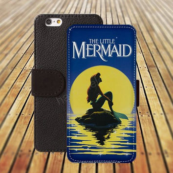 iphone 6 case little mermaid colorful iphone 4/4s iphone 5 5C 5S iPhone 6 Plus iphone 5C Wallet Case,iPhone 5 Case,Cover,Cases colorful pattern L518