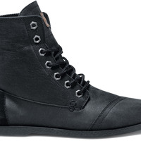 Black Aviator Twill Men's Utility Boots US