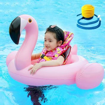 Baby Safety White Flamingo Swimming Ring