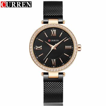 Curren Luxury brand Quartz Watch Women Brand Gold Black Bracelet Ladies Fashion Dress Jewelry Gifts Wristwatch  Clock Female