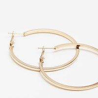 Square Edged Basic Hoops