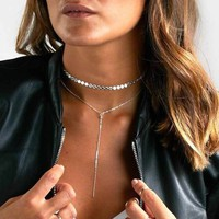 New Sexy Fashion Sequins Chain Necklace Chain Clasp Suitcase Necklace Women 's Jewelry Gifts   171213