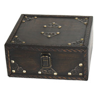 Quickway Imports Small Pirate Style Treasure Chest