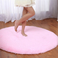 S&V Super soft round carpets chair cushion Yoga mats Area Rugs for bedroom and living room christmas decoration