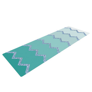 "Monika Strigel ""Avalon Mint Ombre"" Aqua Green Yoga Mat"