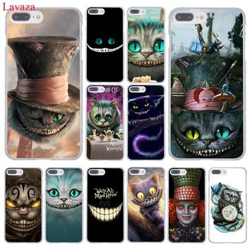 Lavaza Alice in Wonderland Cheshire Cat Phone Case for Apple iPhone XR XS Max X 8 7 6 6S Plus 5 5S SE 5C 4S 10 Cover 8Plus Cases