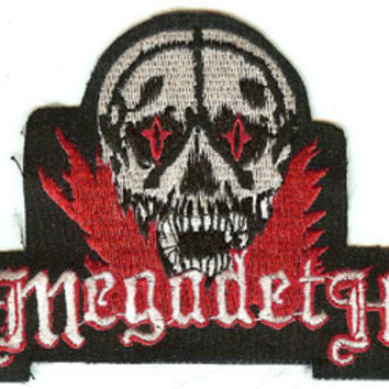Megadeth Iron-On Patch Skull Logo