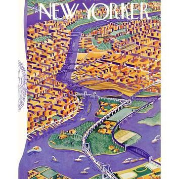 The New Yorker Cover - August 22, 1936 Premium Giclee Print by Ilonka Karasz | the NEW Art.com