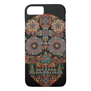 Flower Sugar Skull iPhone 7 Case