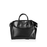 Givenchy Women's Antigona Medium Sugar Satchel Bag, Black