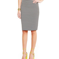 Cremieux Bonnie Stripe-Print Pencil Skirt | Dillards