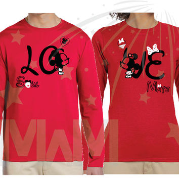 Matching Couple Shirts Love Soulmate Kissing Mickey Minnie Mouse Design, Tshirts Sweashirts Hoodies, Free Backpack, Married With Mickey, 169
