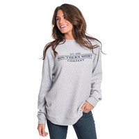 Heather Loop Knit Terry Pullover in Monument by The Southern Shirt Co.