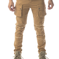 The Ryu Destroyed Military Pant in Camel