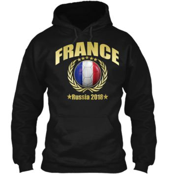 France Champions 2018 Soccer Team Premium Cup Gold T-Shirt Pullover Hoodie 8 oz