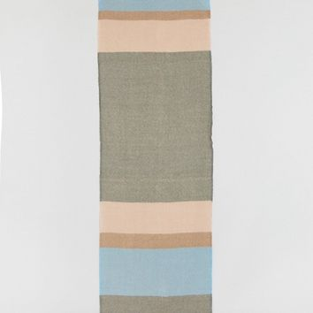 ASOS Long Oversized Pastel Stripe Herringbone Scarf at asos.com
