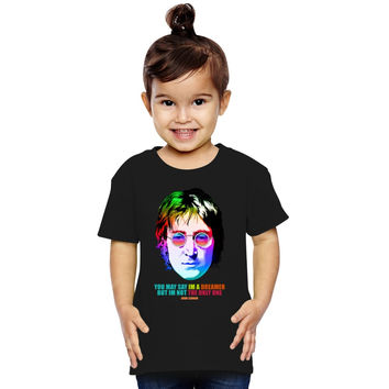 John Lennon Imagine Retro I'm A Dreamer Toddler T-shirt