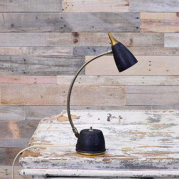 Small Vintage Desk Lamp, WORKS, Eagle Hi-Lite, Mid Century Modern Gooseneck Lamp