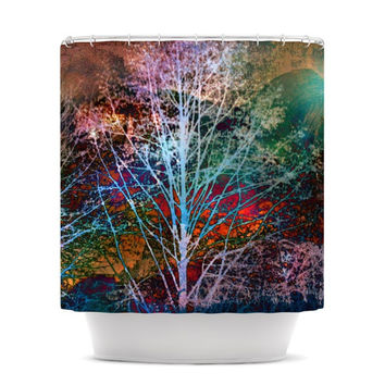 "Sylvia Cook ""Trees in the Night"" Shower Curtain"