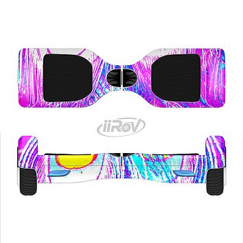The Neon Pink & Turquoise Peacock Feather Full-Body Skin Set for the Smart Drifting SuperCharged iiRov HoverBoard