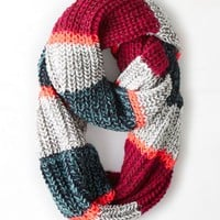 AEO Women's Striped Loop Scarf (Fall Mint)
