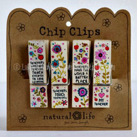 TEACHER CHIP CLIPS BY NATURAL LIFE